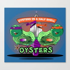 Oysters In A Halfshell Canvas Print