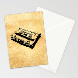Retro Cassette Tape Stationery Cards