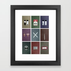X-Files colors Framed Art Print