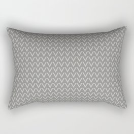 Chevron V Shapes Horizontal Lines Benjamin Moore 2019 Color of the Year Metropolitan Light Gray AF-6 Rectangular Pillow