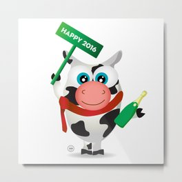 Cow New Year Metal Print