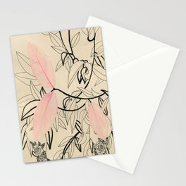 Line drawing leaves #5 Stationery Cards