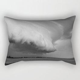 Cape Tryon Vortex Black and White Rectangular Pillow