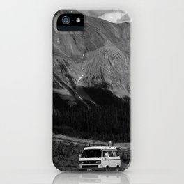 80's VW Van In The Mountains iPhone Case