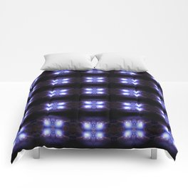 Bubbles in purple light Comforters