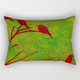Sparrows' Family Rectangular Pillow