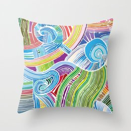 Happy Fork Shells Throw Pillow