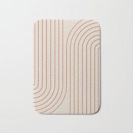 Minimal Line Curvature - Coral II Bath Mat