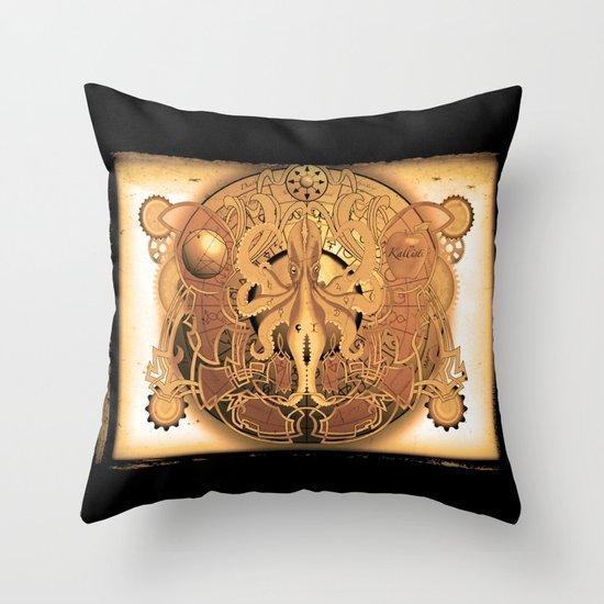 OCTO-CHAO Throw Pillow