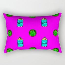 Retro Pattern Clean Rectangular Pillow