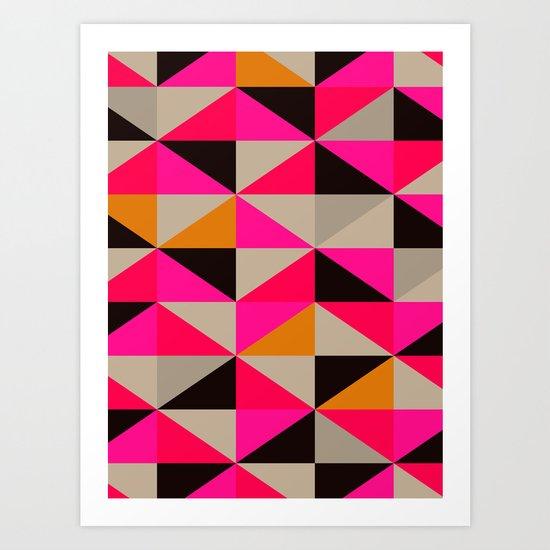 colour + pattern 5 Art Print
