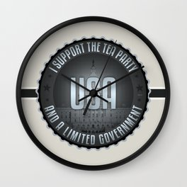 I Support The Tea Party Wall Clock