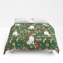 Beagle christmas dog print cute beagle christmas print love beagles Comforters