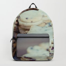 Heart shaped cookies on parchment paper Backpack