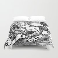 wild things Duvet Covers featuring Wild Things by intermittentdreamscapes