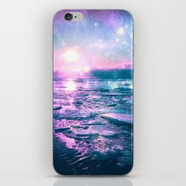 Mystic Waters Vibrant Pink Blue Lavender iPhone Skin