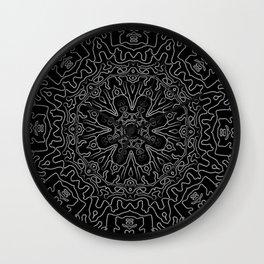 Tribal dark mandala Wall Clock