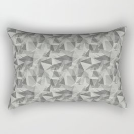 Abstract Geometrical Triangle Patterns 3 Benjamin Moore 2019 Color of the Year Metropolitan Light Gr Rectangular Pillow