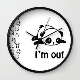 I'm out – Cute panda design Wall Clock