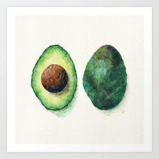 Avocado Split Art Print
