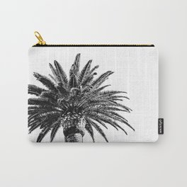 Lush Palm {2 of 2} / Black and White Sky Tree Leaves Art Print Carry-All Pouch