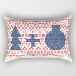 Geometric Christmas Pattern Rectangular Pillow