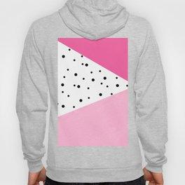 Black dots & pink leader Hoody