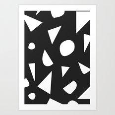 Boom on Black Art Print