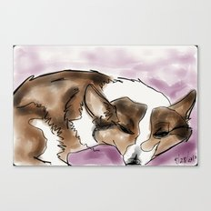 Corgi 4 Canvas Print