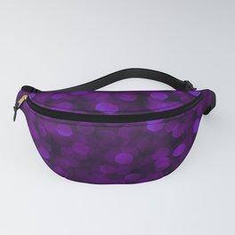 Purple Ultra Violet Glitter Bokeh Glam Pattern Fanny Pack