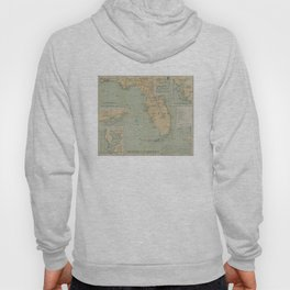 Vintage Lighthouse Map of Florida (1898) Hoody