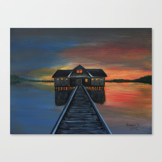 Old boat house  Canvas Print