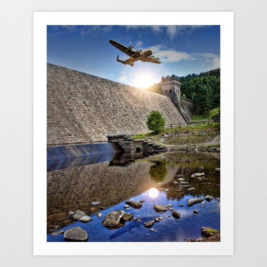Over the Dam Art Print