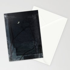 Night of Layered Greys Stationery Cards