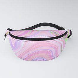 Pastel Pink & Violet Lava Marble Fanny Pack