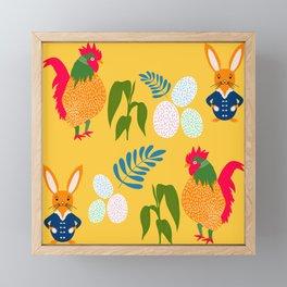 egg-cited Framed Mini Art Print
