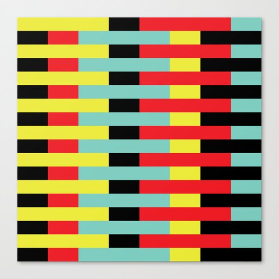 Yellow, Red, Blue Layers (2013) Canvas Print
