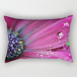 Purple Osteospermum Macro Rectangular Pillow