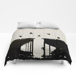 Rail Call - Graphic Birds Series, Plain - Modern Home Decor Comforters