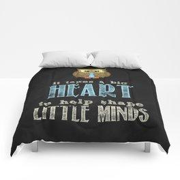 Big heart blue Comforters
