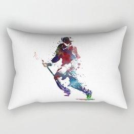 Lacrosse player art 3 Rectangular Pillow