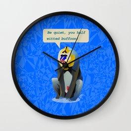 Shouting Mandrill Wall Clock