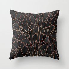 Shattered Black / 2 Throw Pillow