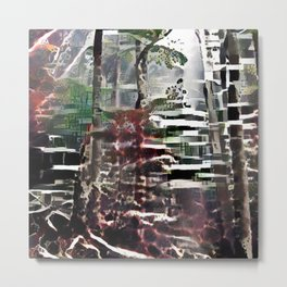 Abstract Forest 1 Metal Print