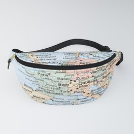 World Map Europe Fanny Pack