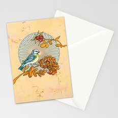 Titmouse on a Branch Stationery Cards