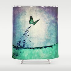 Waterfly Shower Curtain