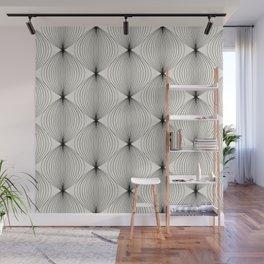 Geometric Orb Pattern - Black Wall Mural