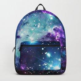 Fox Fur Nebula : Purple Teal Galaxy Backpack