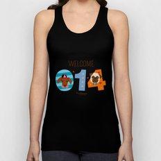 Welcome 014 Unisex Tank Top
